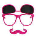 Flip Up Mustache Sunglasses Hot Pink DOZEN WS7401