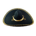 Mexican Black Mariachi Sombrero with Gold Trim 6000