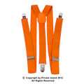 DOZEN Orange Clip On Elastic Suspenders 1282D