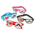 "Dozen ""I Love Mustaches"" Glasses Assorted Colors 7001D-7004D"