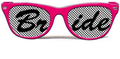 Pink Bride Pinhole Glasses With Black Bride Text BP1000