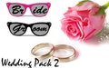 Pink Bride and Black Broom Pin Hole Glasses Set BP1000/GB1000