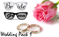 White Bride and Black Broom Pin Hole Glasses Set BW1000/GB1000
