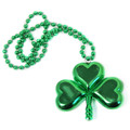 Dozen St Patricks Lucky Shamrock Pendant Necklaces 6569D