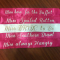 Bachelorette Sashes, Custom Sashes for Bachelorette Parties