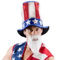 Dozen Uncle Sam Glitter Top Hat 1355DZ
