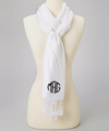 Monogrammed Scarf  | Personalized Scarf |  Bridesmaid Pashmina