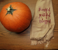 Thanksgiving Scarf | Fall Scarf | Autumn Scarf | Pumpkin Scarf