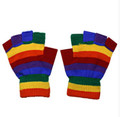 Rainbow Gloves Wholesale | Knit Fingerless or Full Finger Dozen 30212