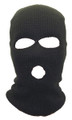 Wholesale Ski Masks | Bulk Ski Masks | Three Hole Knit  Black 3056D