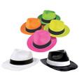 Plastic Fedora Hats | Party Hats for Adults | Dozen 12 PK | 1301P