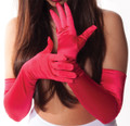 12 PK Red Gloves Opera Satin 1212DZ