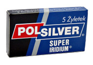 Polsilver Super Iridium Double Edge Razor Blades