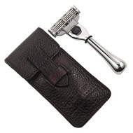 Parker Mach3 Travel Razor W/ Leather Case (PKTravM3)