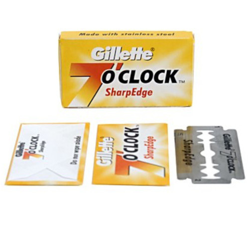 Gillette 7 O'clock SharpEdge (Yellow) DE Razor Blades