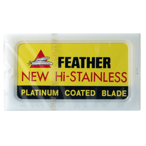 Feather Hi-Stainless Double Edge Razor Blades