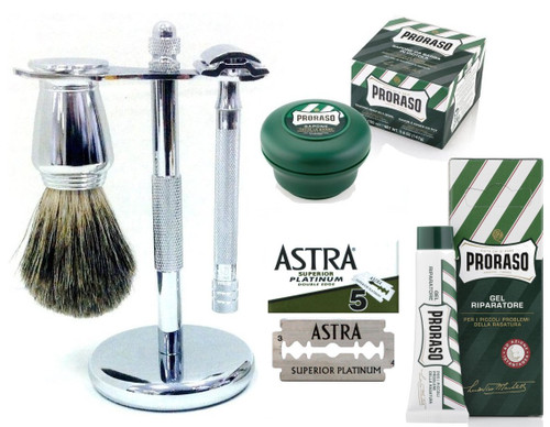 Wet Shaving Starter Set - Deluxe