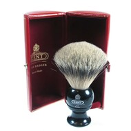 Kent Medium Pure Silver-tip Badger Brush - BLK4