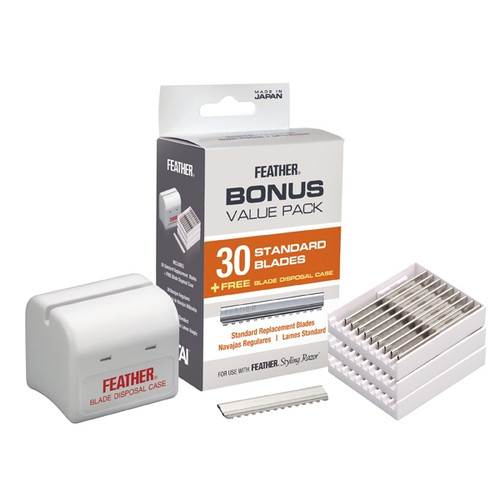 Feather Styling Razor 30 Bonus Pack