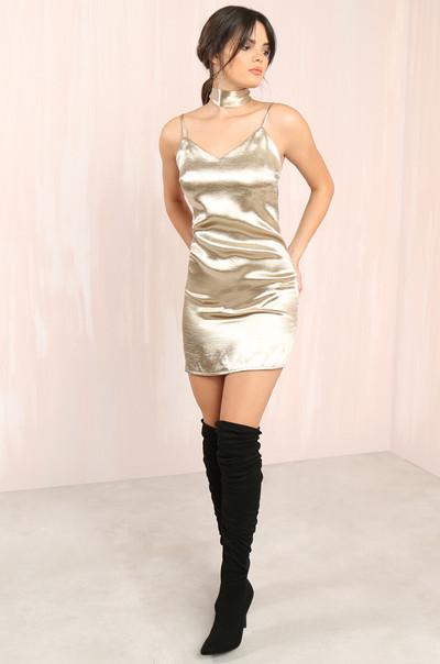Selena Dress - Champagne