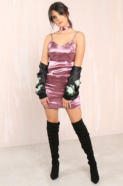 Selena Dress - Mauve