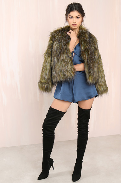 Fur-Ever Jacket - Olive