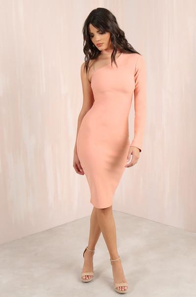 Cold Shoulder Dress - Blush