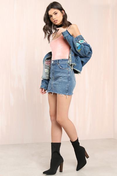 Crushin' On You Bodysuit - Blush Velvet