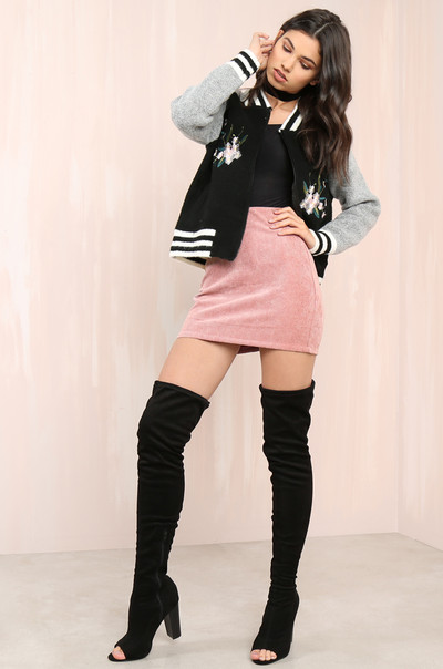 Short Encounter Skirt - Rose