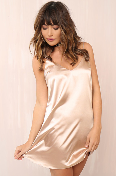 Sleeker Than You Dress - Champagne