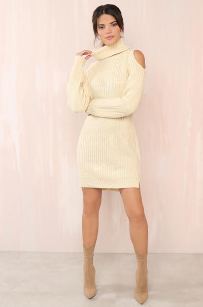 Cuffing Season Dress - Cream