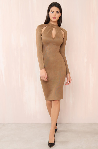 Killer Curves Dress - Mocha