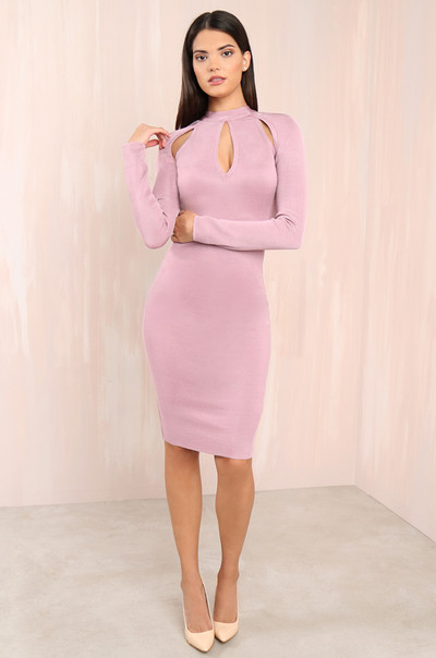Killer Curves Dress - Mauve