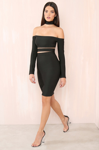Touch My Body Dress - Black