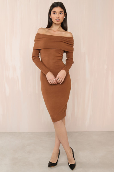 Off Topic Dress - Camel