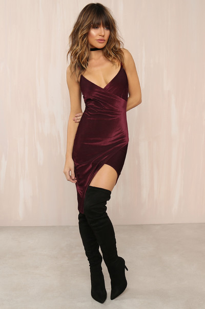 Star Of The Show Dress - Wine
