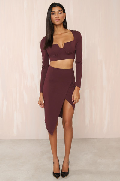 Show Love Co-ord Set - Wine
