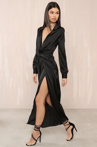 Knot Into You Dress - Black