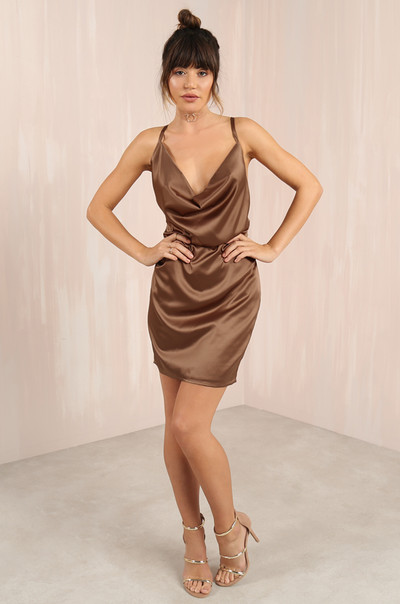 Smooth Talker Dress - Mocha