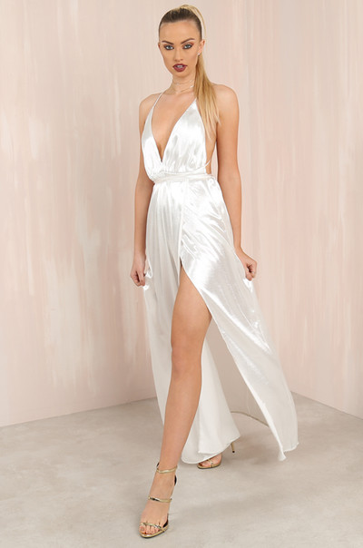 Slay The Night Dress - White