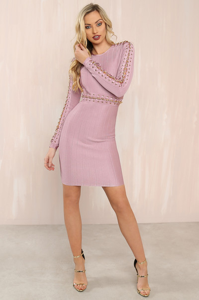 The Glitz Dress - Mauve