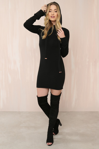 Curve 'Em Dress - Black