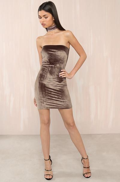 GNO Ready Dress - Mocha Velvet