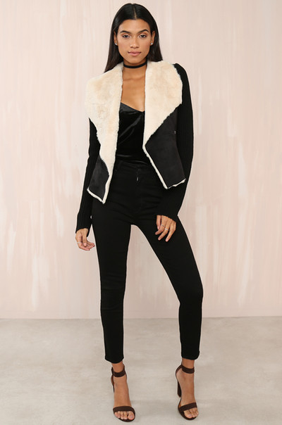 Knit Over It Jacket - Black