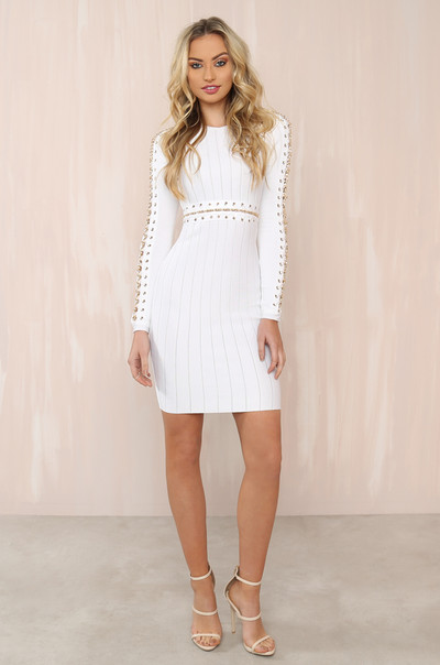 The Glitz Dress - White