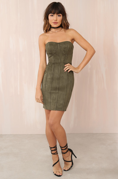 Stopping Traffic Dress - Olive