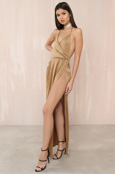 Record High Dress - Gold