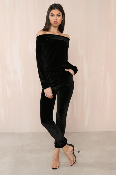 One Dance Jumpsuit - Black Velvet