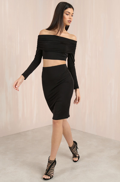 Made You Look Skirt - Black