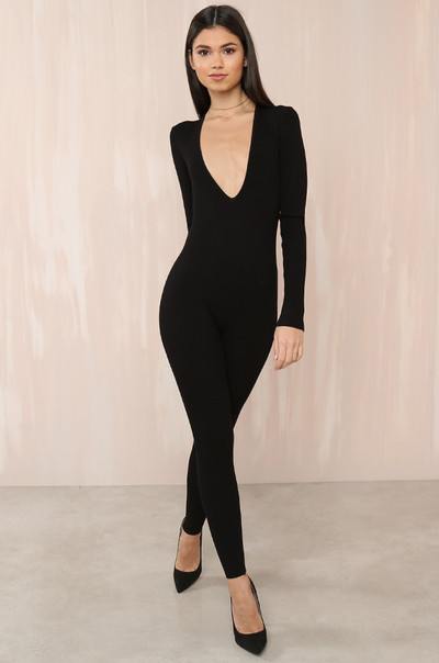 Party Of One Jumpsuit - Black